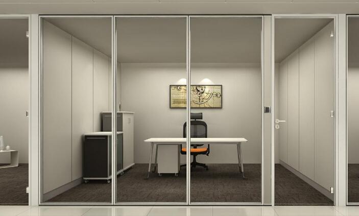 为什么办公室设计公司喜欢用成都玻璃隔断墙