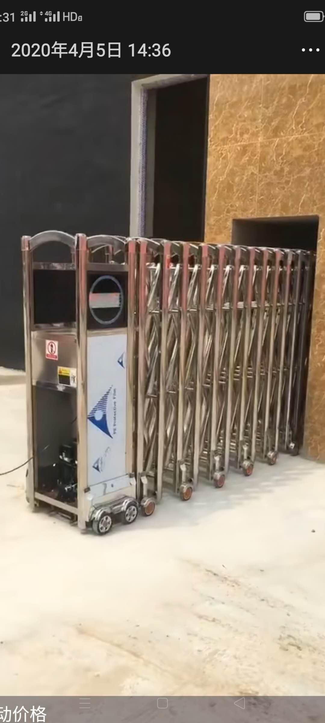 伸缩门安装案例 电动伸缩门安装技巧及规范
