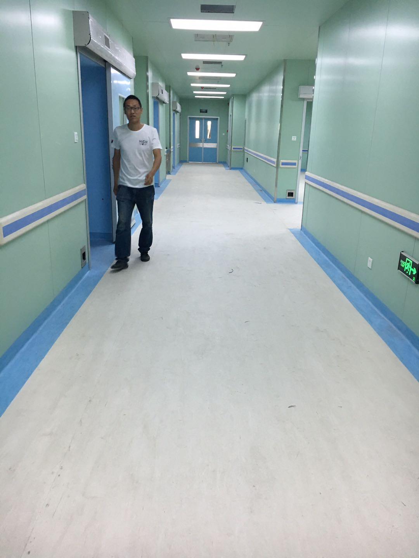 医用塑胶地板施工