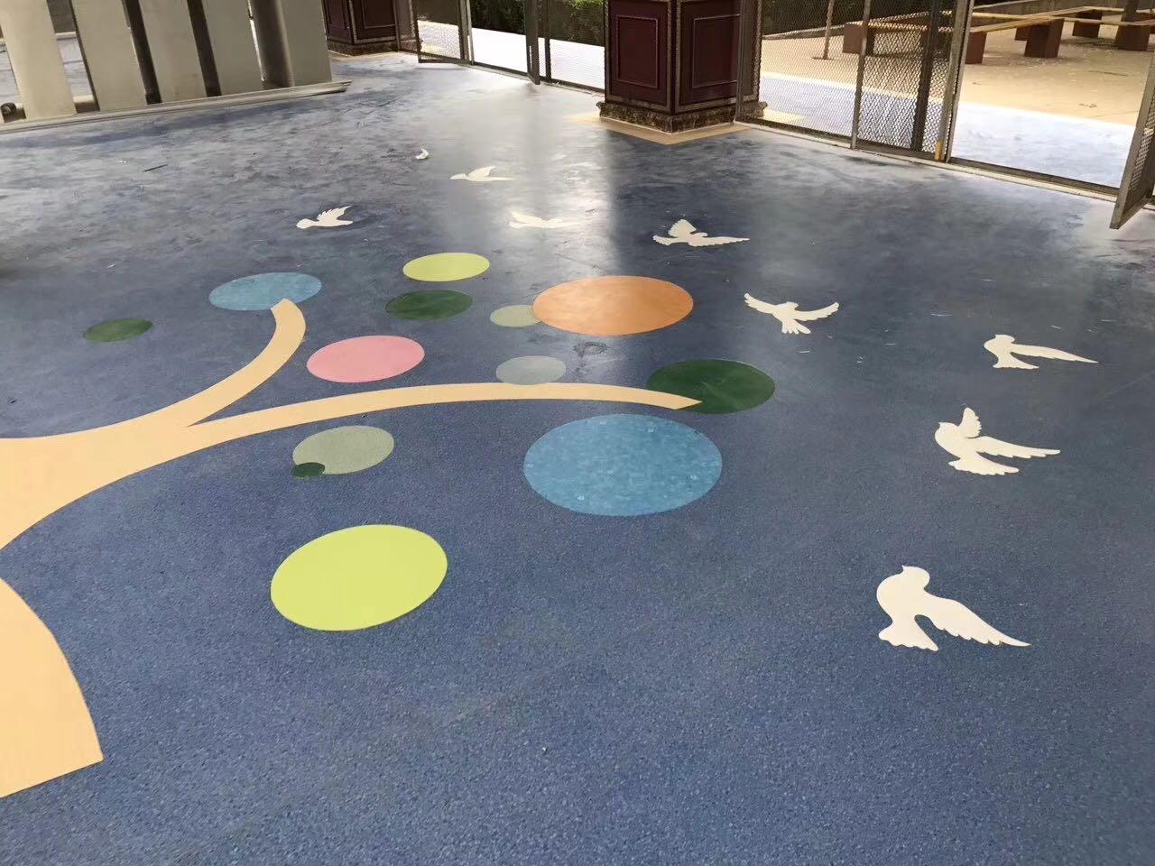 陕西塑胶地板施工