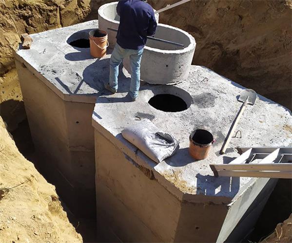 鄂尔多斯化粪池组装施工案例