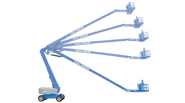 说起曲臂式高空作业车结构特点,成都高空车出租公司来告诉你