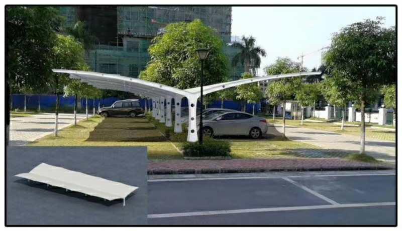 什么是景区膜结构停车棚?