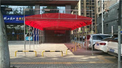 西安户外雨篷-大排档活动推拉雨棚