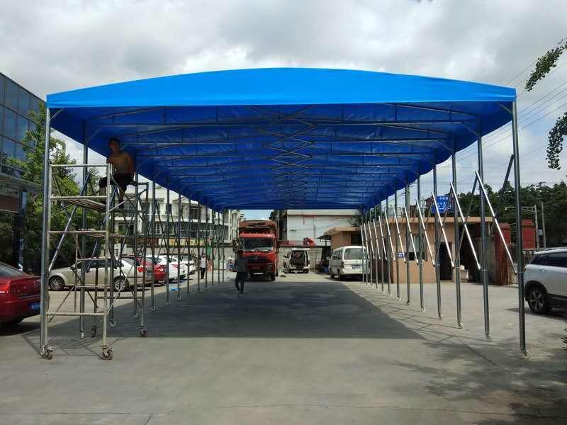 陕西大型推拉篷在施工中需要注意什么?主要有以下三个方面的?