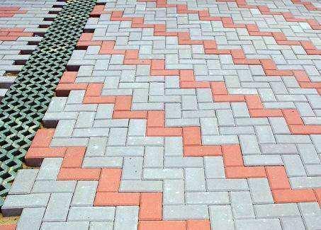 西安廣場磚施工案例