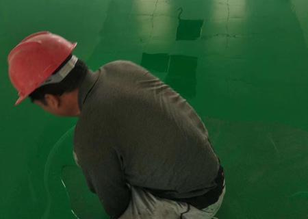 塑胶地板施工现场