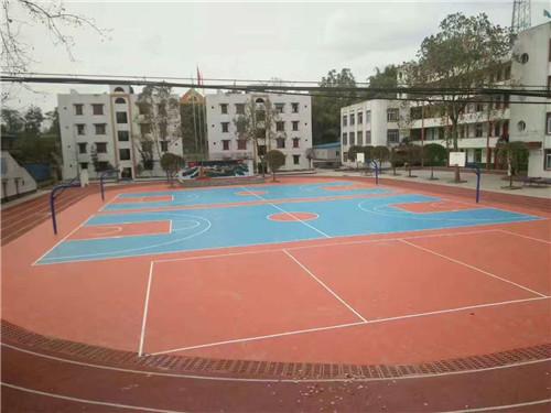 塑胶球场案例-消河小学