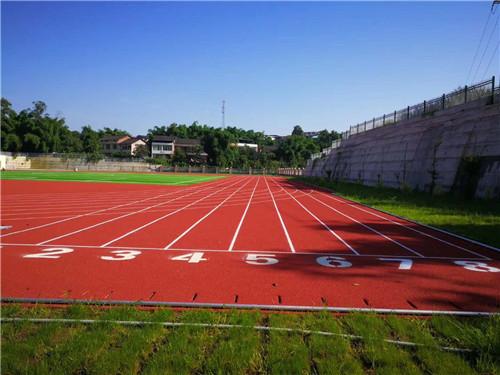 四川塑胶球场跑道案例-穿石小学校