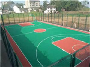 恒升公园塑胶球场成功案例