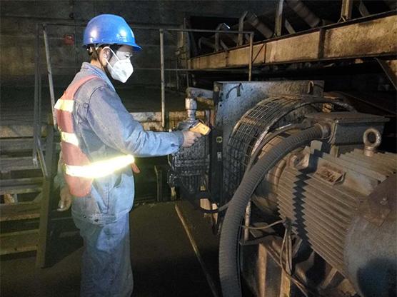 输煤线路转动部位振动检查