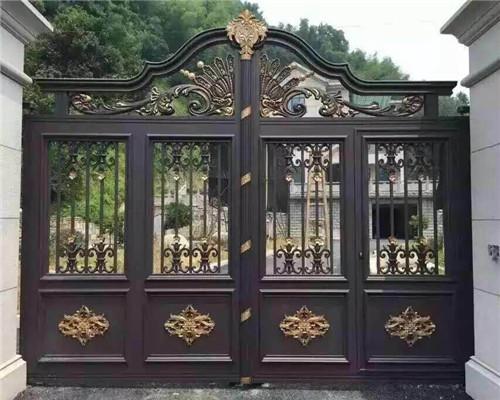 西安铝艺栏杆大门安装