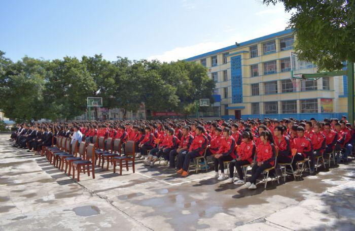 兰州职业教育园甘肃陇原技工学校开学典礼