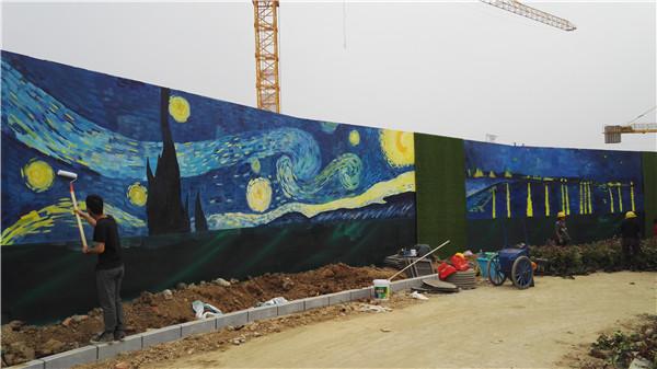 郑州手绘壁画工程现场