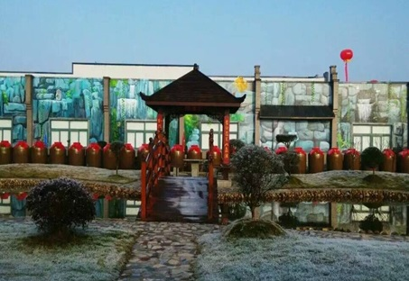 信阳鸡公山酒业郑州手绘壁画案例