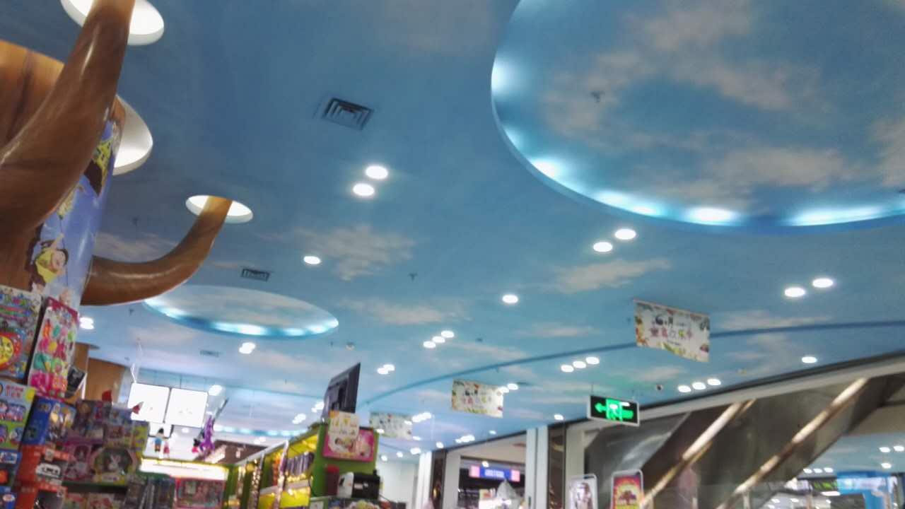 郑州蓝天白云彩绘