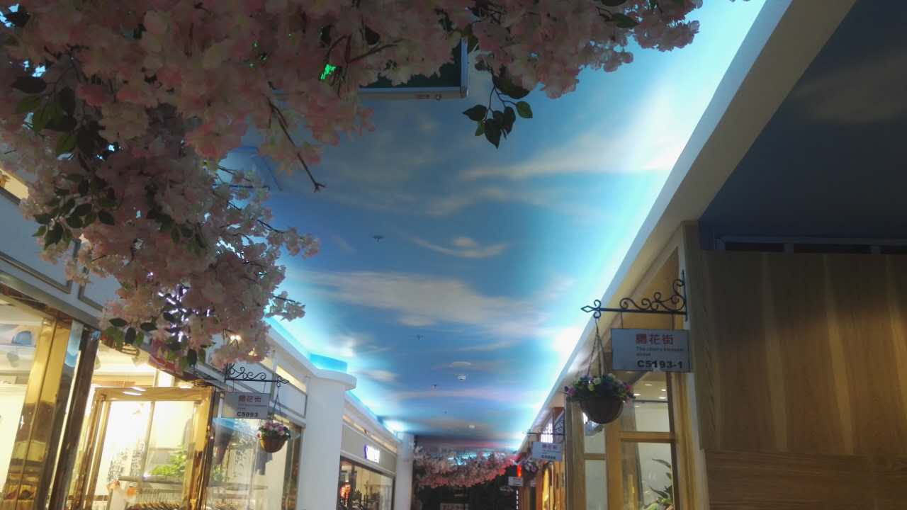 郑州蓝天白云彩绘设计
