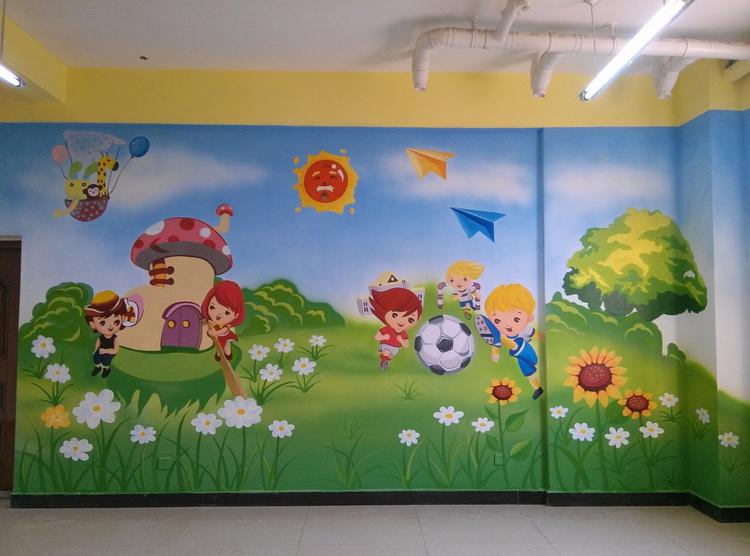 难道郑州墙体彩绘就是涂涂画画这么简单么?