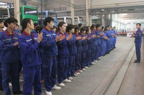 竹木纤维墙板生产团队