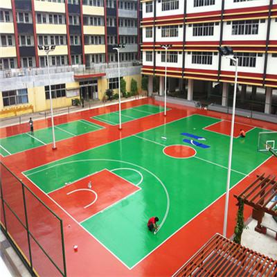 中学篮球场施工现场