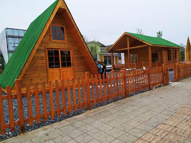 成都防腐木木屋工程圖片
