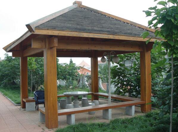 带你了解防腐木凉亭的防水处理!
