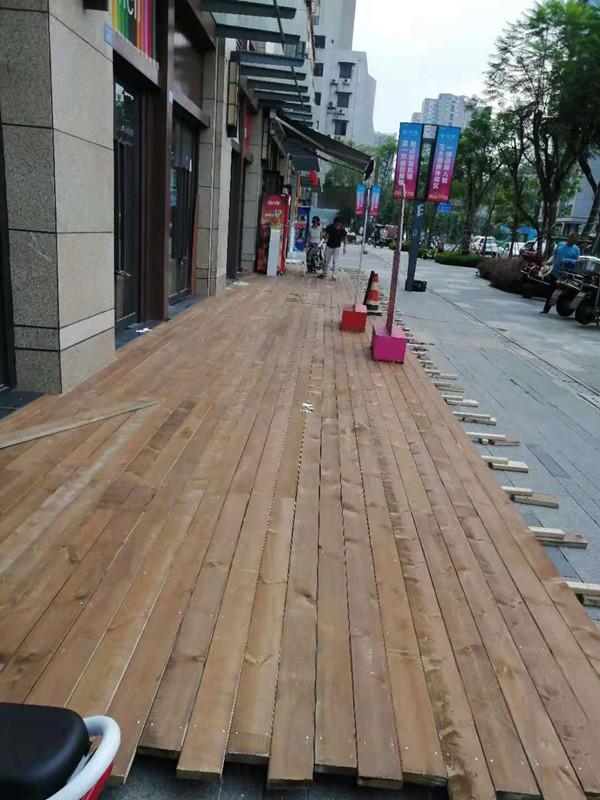 防腐木地板效果图