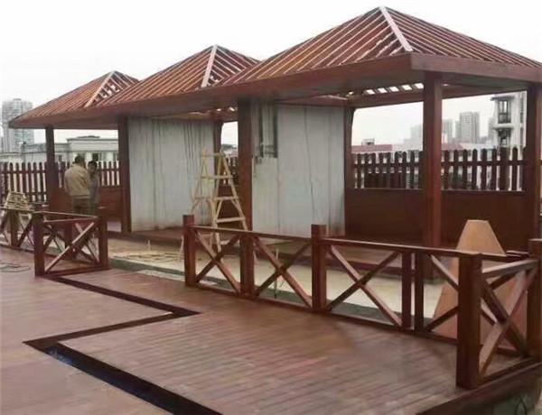 成都防腐木木屋工程案例