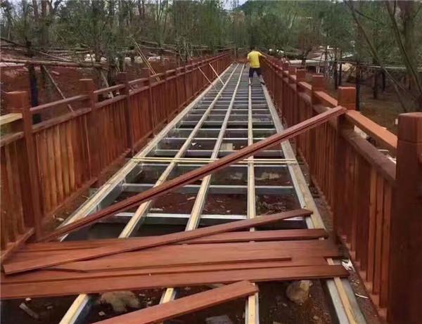 南充防腐木棧道工程案例
