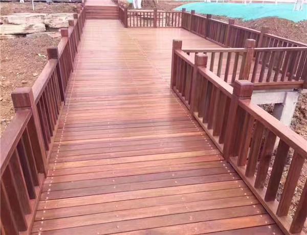 四川防腐木地板工程案例