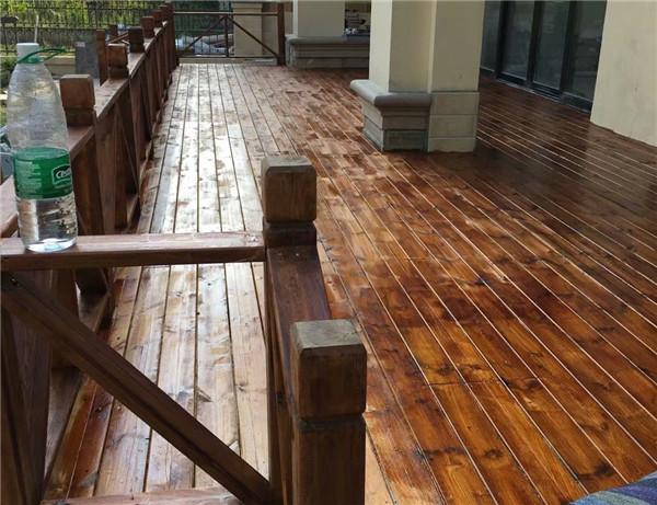 南充防腐木地板工程案例