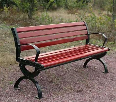 成都防腐木公園椅案例