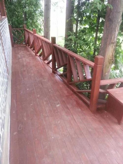 成都防腐木欄杆