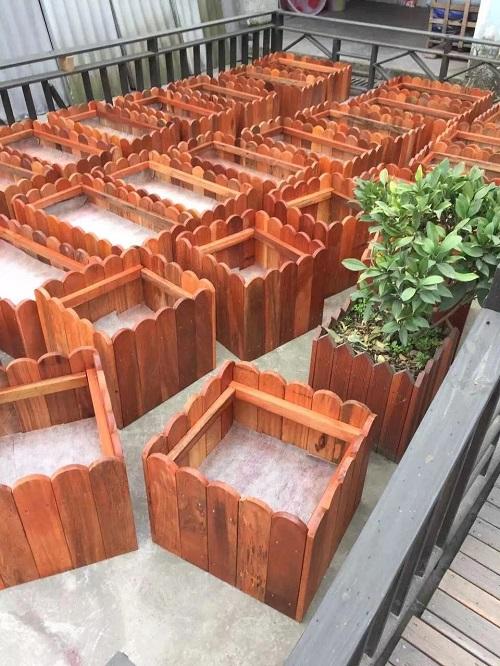 成都防腐木花箱