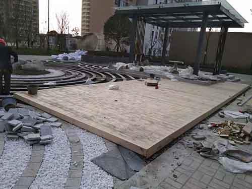 成都防腐木地板案列現場