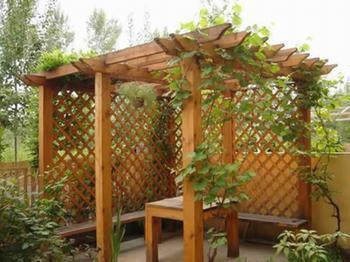 防腐木花架圖片