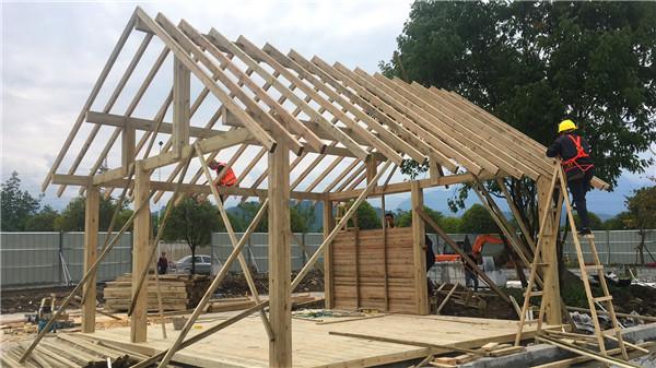 成都防腐木木材工程案例