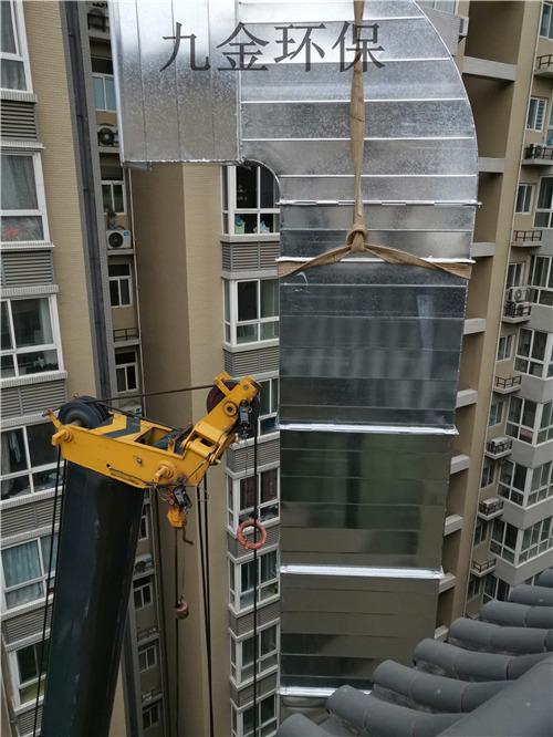 雙擁路金橋國際A座地下小吃城外牆上樓管道施工案例